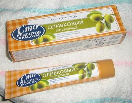 Оливковый питательный крем для лица